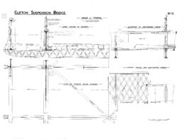 Details of platform showing cross section and plan bracing of deck