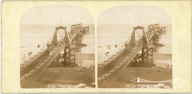 Stereoview of the Royal Suspension Chain Pier at Brighton