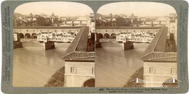 Stereoview of the Vecchio Bridge, Florence, Italy