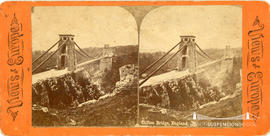 Views of Europe stereoview of Clifton Suspension Bridge