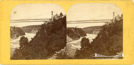 Stereoview of the Niagara Gorge Suspension Bridge
