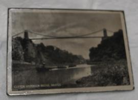 Rectangular pocket mirror decorated with photographic print of Clifton Suspension Bridge