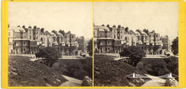Stereoview of Sion Hill, Bristol taken from Clifton Downs