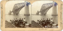 Excelsior Stereoscopic Tours stereoview of the Forth Rail Bridge