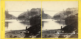 Clifton Illustrated stereoview of Clifton Suspension Bridge from Cumberland Basin