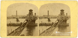 Stereoview of the Hungerford Bridge, London