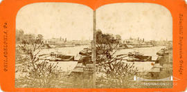 Stereoview of the Schuylkill Suspension Bridge