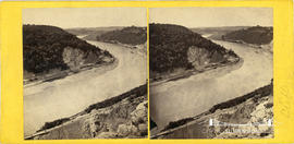 Stereoview of the Avon Gorge showing railway lines