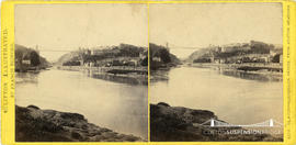 Clifton Illustrated stereoview of Clifton Suspension Bridge taken from Ashton Meadows