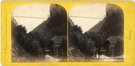 Stereoview of a bridge at Caille, Savoie