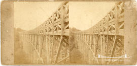 Stereoview of the Menheniot Viaduct, Cornwall