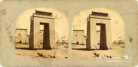 Stereoview of the Ptolemaic Pylon at Karnac