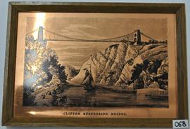 Etched copper picture of Clifton Suspension Bridge