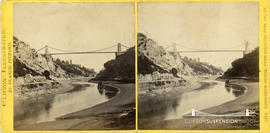 Clifton Illustrated stereoview of Clifton Suspension Bridge taken from the Salvator Rosa Valley
