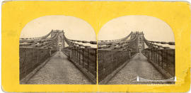 Stereoview of the Menai Suspension Bridge