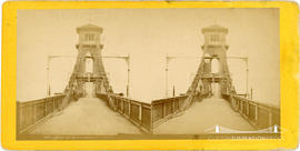 Stereoview of the Hungerford Bridge, London taken from the carriageway