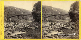 North Wales Illustrated stereoview of Waterloo Bridge over the River Conway at Bettws-Y-Coed, Wales