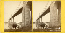 Stereoview of bridge at Saint-Andre-de-Cubzac, Bordeaux