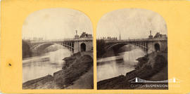 Stereoview of the North Parade Bridge, Bath