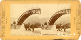 Stereoview of Kutai bridge near inland Sea