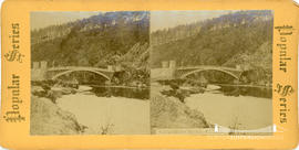 Popular series stereoview of Craigellachie Bridge, Scotland