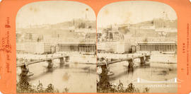 Stereoview of a bridge at Lyon