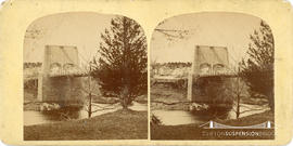 Stereoview of the Chain Bridge in Newburyport, Massachusetts