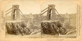 Stereoview of Clifton Suspension Bridge from Clifton