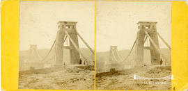 Stereoview of Clifton Suspension Bridge taken from the Clifton side