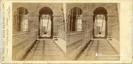 Excelsior series stereoview of the Menai Suspension Bridge