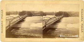 Stereoview of a bridge at Niagara Falls