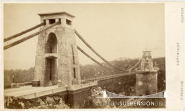 Photograph of Clifton Suspension Bridge showing kiosk