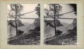 Stereoview of the Clifton Suspension Bridge
