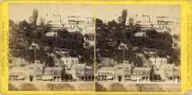 Clifton Illustrated stereoview of the Hotwells Spa and Baths taken from the opposite bank