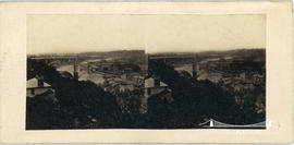 Stereoview of the railway bridge at Chepstow