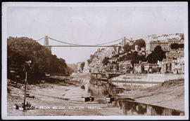 Postcard of the Clifton Suspension Bridge and Hotwells