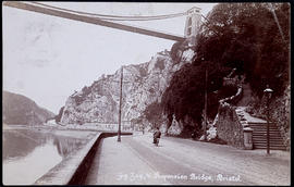 Postcard of Clifton Suspension Bridge from the bottom of the Zig-Zag