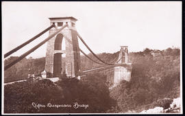 Postcard of Clifton Suspension Bridge from the Clifton side