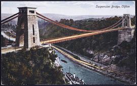 Postcard of Clifton Suspension Bridge taken from the Clifton side